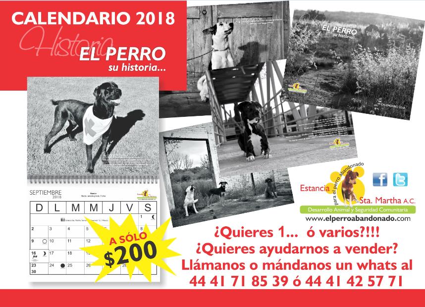 CALENDARIO 2018 A LA VENTA