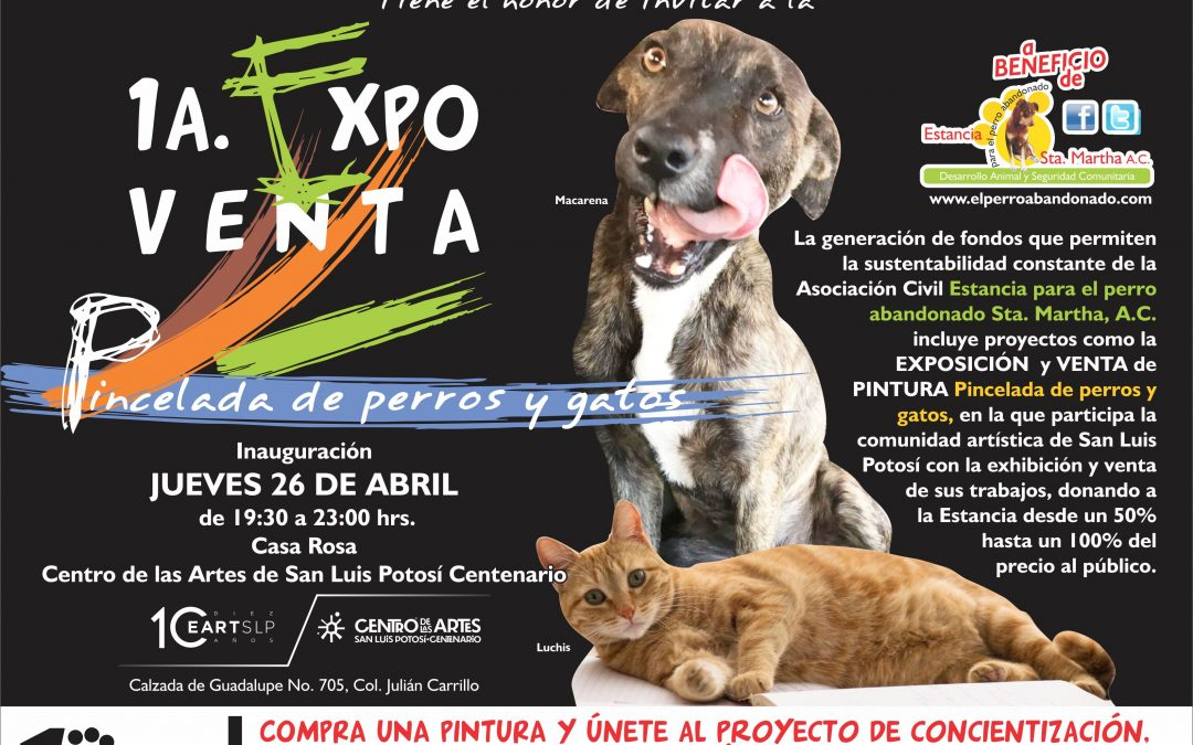 """1a. EXPO-VENTA """"PINCELADA DE PERROS Y GATOS"""""""
