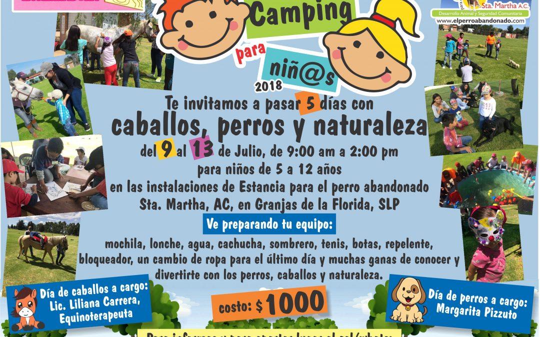 "2do. Camping para niños ""CABALLOS, PERROS Y NATURALEZA"" 2018"