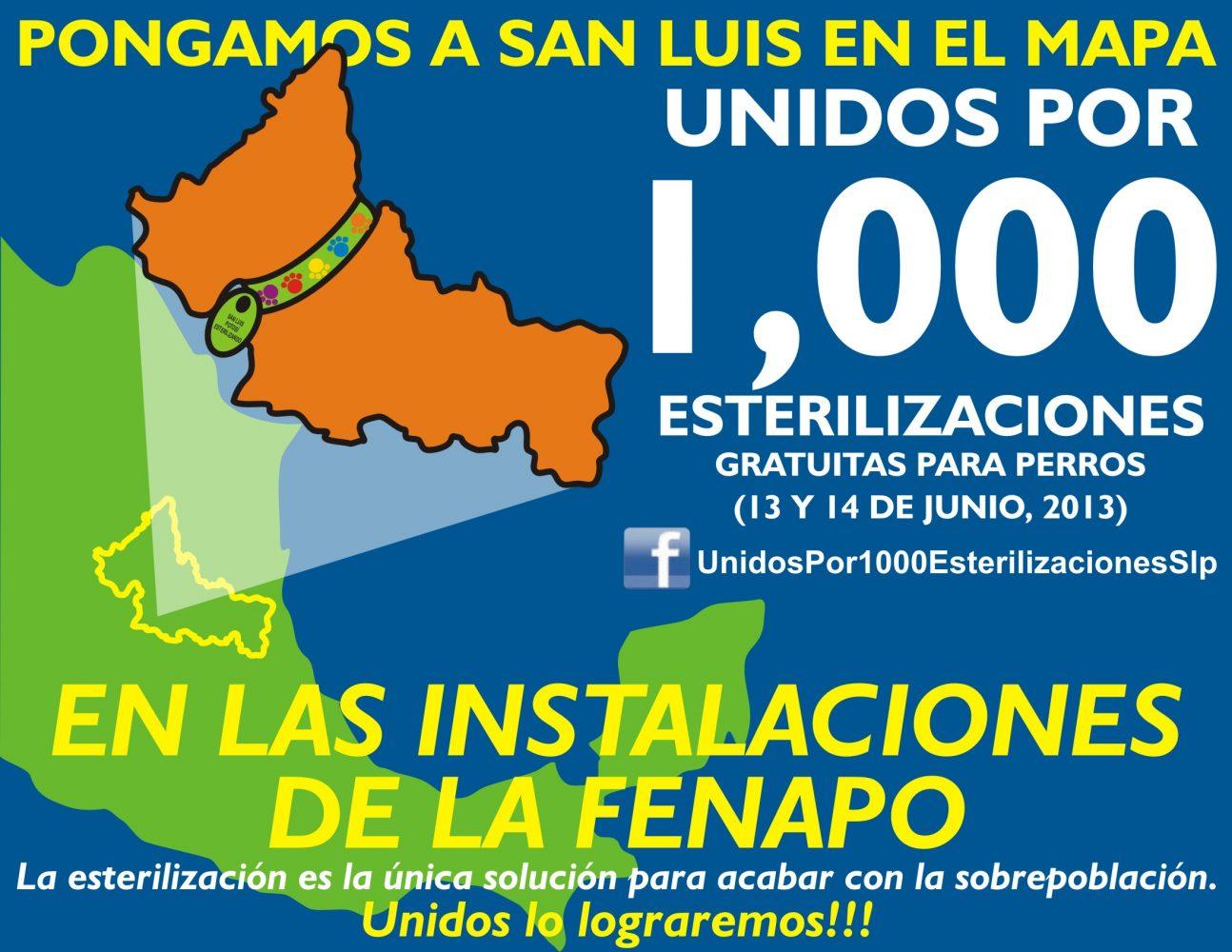 1000 esterilizaciones inst FENAPO