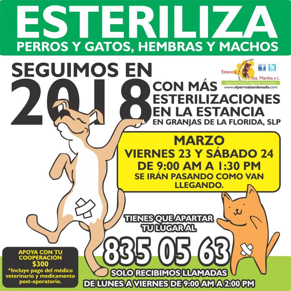 ESTERILIZACIONES EN LA ESTANCIA3 MARZO 23-24