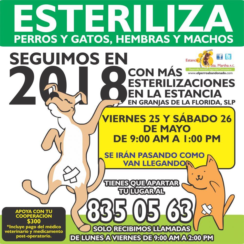 ESTERILIZACIONES EN LA ESTANCIA5 MAYO 25 Y 26