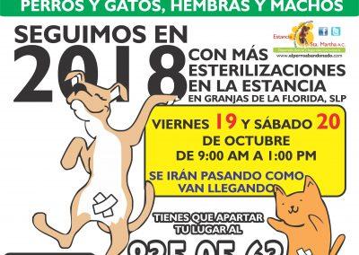 ESTERILIZACIONES EN LA ESTANCIA10 OCT-19Y20-2018